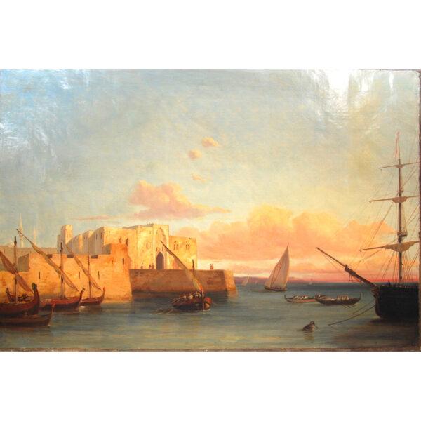 Oli on canvas Théodore DUBOIS Tripoli